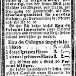 Eau de Cologne impériale (A. Maczuski)