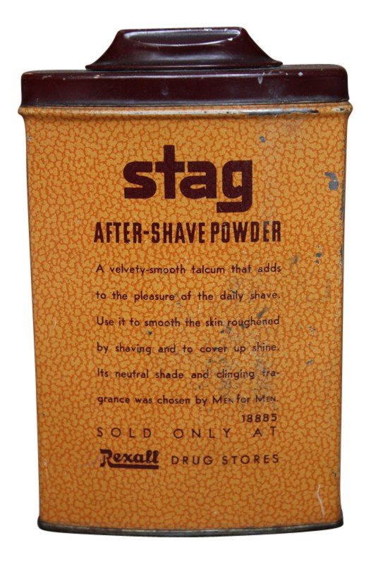 Rexall Drug Company Stag Electric Pre Shave Lotion