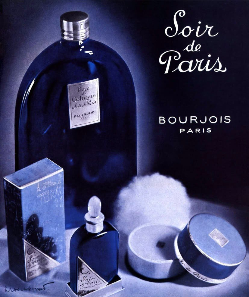 bourjois soir de paris evening in paris 1928. Black Bedroom Furniture Sets. Home Design Ideas