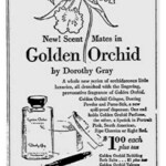 Golden Orchid Perfume and Lipstick Case (Dorothy Gray)